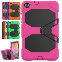 For Samsung Galaxy Tab A 8.0 SM-T290 Rugged Stand Tablet Case + Screen Protector