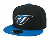 New Era 59Fifty MLB Cap Toronto Blue Jays Cooperstown Fitted Hat - Black/Blue