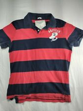 VTG Abercrombie & Fitch Mens Long Sleeve Rugby Polo Shirt Sz xlStriped