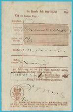 Postscheine Preußen Postschein Der Royal Annahme-Expediton Barmen 1860