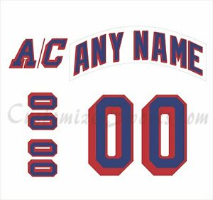 New York Rangers Customized Number Kit for 2007-Present Away Jersey