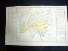 OLD MAP: Th. LEBRUN & A. LE BEALLE~ca 1860~ASIE POLITIQUE~POLITICAL ASIA