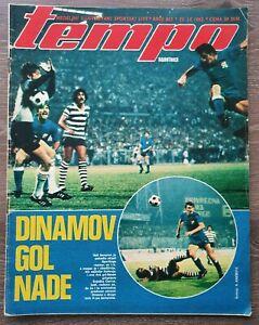 Magazine TEMPO 865 football NK Dinamo Zagreb CP Sporting Lisbon report Yug 1982