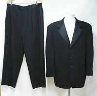 PAL ZILERI Men's Black Wool Single Breasted Tuxedo Suit UK44R IT54 W36 L27