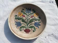 Originaler Gmundner Keramik Wandteller Blumenmuster Zierteller alt Schale