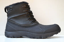 Clarks Mens Real Fur Boots QUANTOCK HILL Black Leather UK 7 / 41