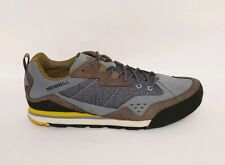 Merrell Rock RRP £100 Blue Grey Nubuck Leather Walking Hiking Shoes Mens UK 11.5