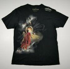 Zarkana Cirque Du Soleil Men's Large T-shirt ( L ) V-neck Black Tee Made In USA