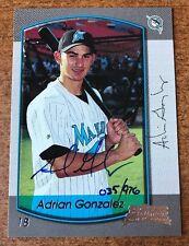 ADRIAN GONZALES 2000 2006 BOWMAN ORIGINALS ADRIAN GONZALEZ AUTOGRAPH 35/976