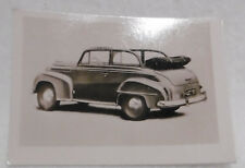 ++  Opel Olympia 1951 - Sammelbild Nr. 19 - Bären Nudeln - Fabrik ++Mbr