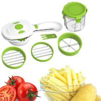 Quick Dicer Gemüseschneider Set Edelstahl Chopper Slicer Karottenkartoffel