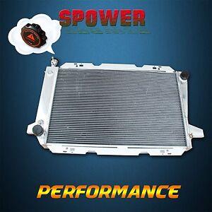 Aluminum Radiator + Cap For Ford F150 F250 F350 Bronco V8 1985-1997 AT MT 3 Row