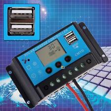 20A 12V/24V LCD Solar Power Regulator Battery Charge Controller Timer & USB BS