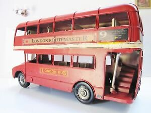 HOME DECOR DISPLAY ANTIQUE VINTAGE TIN METAL CAR MODEL HANDMADE LONDON BUS GIFT