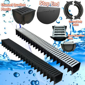 Drainage Channel 1m Plastic & Steel, Corners, Outlet Channel Quadbox & Stopend.