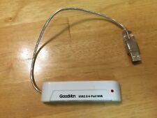 GOODMAN Rock Band USB 2.0 4-Port Hub Adapter Guitar Hero Drums Wii PS3 PS2