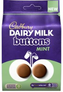 Cadbury Dairy Milk Mint Giant Buttons 110g Chocolate Pouch New Limited Edition