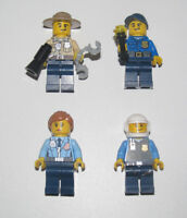 Lego ® Lot x4 Minifig Figurine City Policier Policeman NEW