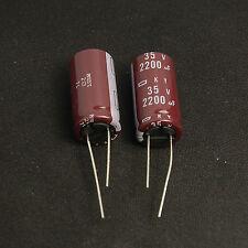 (2pcs) 2200uf 35v NCC Radial Electrolytic Capacitors KY 35v2200uf Upgrade 25v