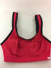 Freya Active Red Black Sports Bra Wire Free Soft Cup Size 28D New With Tags