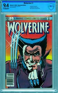 WOLVERINE LIMITED SERIES #1 1982 CBCS 9.4 NEWSSTAND 1st SOLO SERIES
