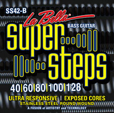 La Bella SS42-B Super Steps Exposed Core Bass Guitar Strings - 5String - Custom