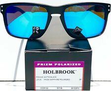 NEW* Oakley HOLBROOK Matte BLACK POLARIZED PRIZM Sapphire Sunglass 9102-F0