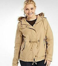 Ladies Hooded Jacket with Faux Fur Trim Hood - size Large (12-14) NWT a.n.a.