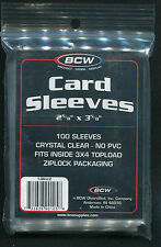 100 Trading Card Soft Penny Sleeves-1 Pack