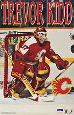 1995 Trevor Kidd Calgary Flames Original Starline Poster OOP