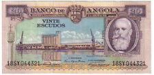PORTUGAL ANGOLA 20 ESCUDOS 1956 PICK 87 LOOK SCANS