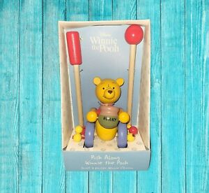 Orange Tree Toys Winnie The Pooh Push Along Toy 2017 Made in England