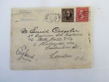 1899 Cover Minneapolis MN Oval Cancel, to 3rd Engineer on Ship, England, Fine