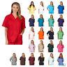 Unisex Men/Women V-Neck Scrub Top Only Medical Hospital Nursing Uniform NEW