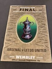 ARSENAL V LEEDS UNITED--FA CUP FINAL PROGRAMME-1972--VERY GOOD