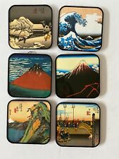 6 Ukiyoe? Coasters Japanese Japan wall decor Mcm Unique Art barware bar decor