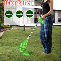 Li-ion Battery Portable Grass Trimmer Cutter Mower Cordless Lawn Garden Tool