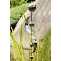 Gartenstecker 'Bows' mit 4 Edelstahlkugeln + 2 Bögen silber glänzend Höhe 80 NEU