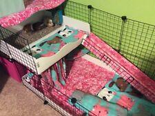 """Guinea Pig Cage x17 - 14"""" wire panels + x20 Connectors Black"""