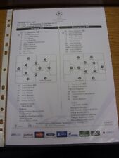 03/10/2012 Colour Teamsheet: Arsenal v Olympiacos [Champions league] . Thanks fo