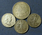 +LOT+4+US+SILVER+COINS+1921+MORGAN+SILVER+DOLLAR+3+HALF+DOLLARS