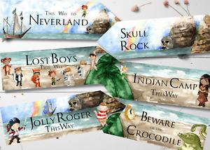 Set of 6 Peter Pan Neverland Party Decoration Arrows