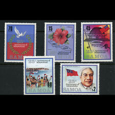 SAMOA 1987 Independence Anniversary. SG 744-748. Mint Never Hinged. (AX140)