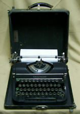 Vintage antique black Underwood Portable Typewriter w/ Case