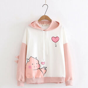 Kawaii Clothing Ropa Cute Cute Dinosaur Hoodies Sweatshirt Pullover Jumper