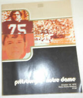 Pittsburgh Notre Dame Magazine Notre Dame & Panthers October 1972 072914R