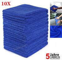10X Mikrofasertüch Auto-Reinigung Poliertuch Microfasertuch 30cm x 30cm Neu