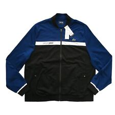 LACOSTE SPORT Mens Colourblock Tennis Jacket Zip Up Sweatshirt Size 9 4XL NEW