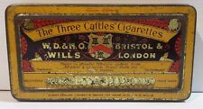 Biscuit Tea Sweets Cigar Tin The Three Caftles Cigarettes W.D & H.O Wills