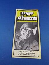 1050 CHUM RADIO STATION TORONTO TOP 30 SONGS MAY 1974 DUDE WALKER HABIT FORMING